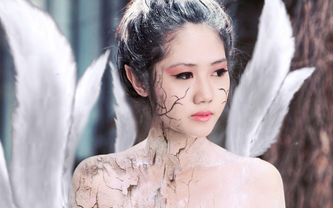 women tails cosplay Asians fox girls wallpaper