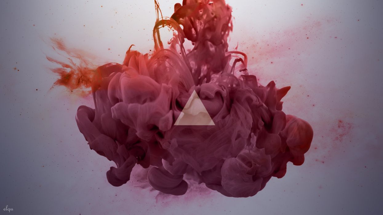 abstract smoke geometry ink triangles wallpaper