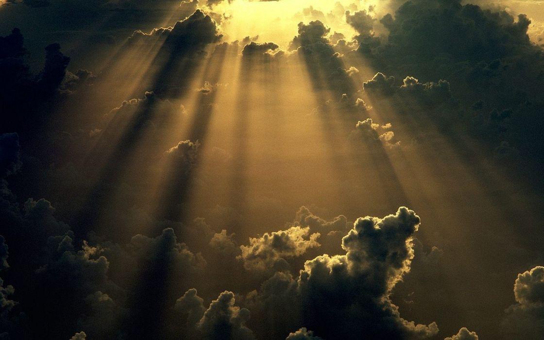 clouds sunlight skyscapes sunburst wallpaper