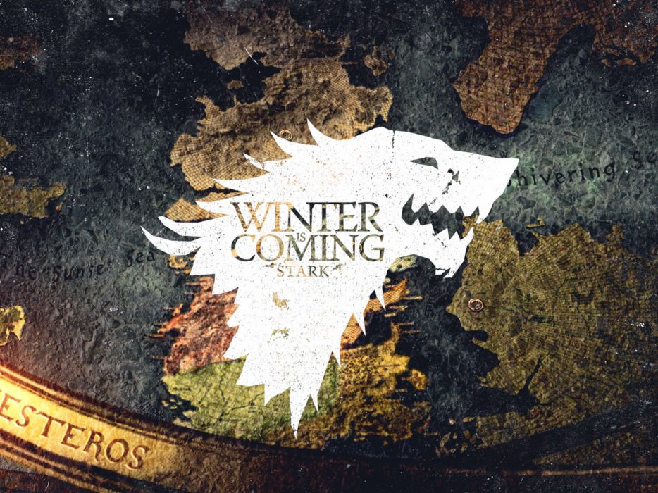 crest Game of Thrones Winter is Coming direwolf House Stark wolves wallpaper
