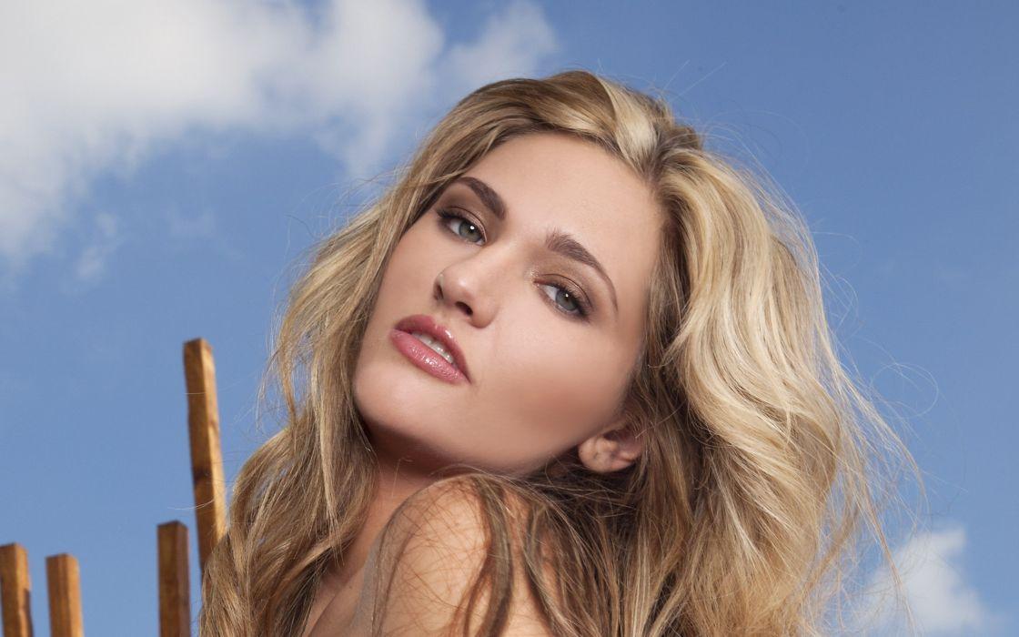 blondes women models Charlotte Rose wallpaper