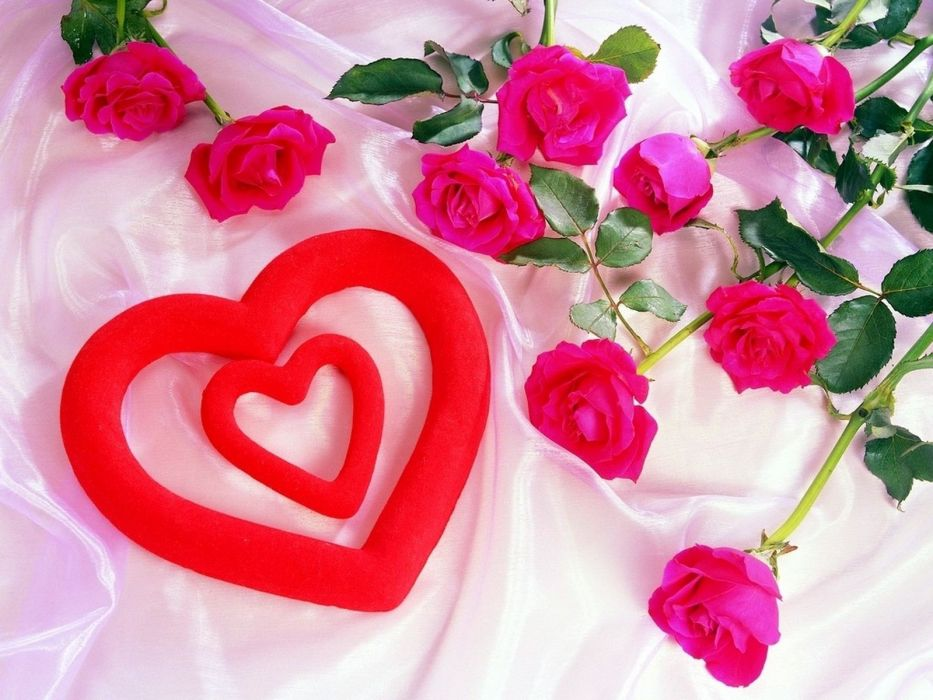 love red dreams Valentines Day hearts Amour wallpaper