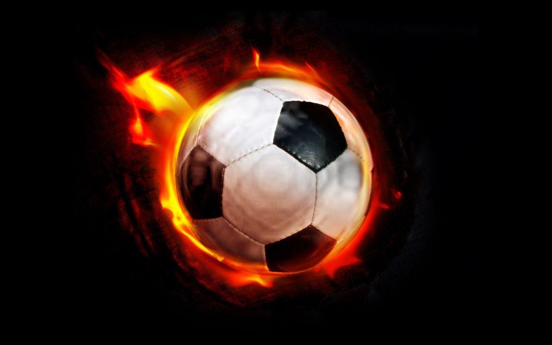 flames balls football ball wallpaper