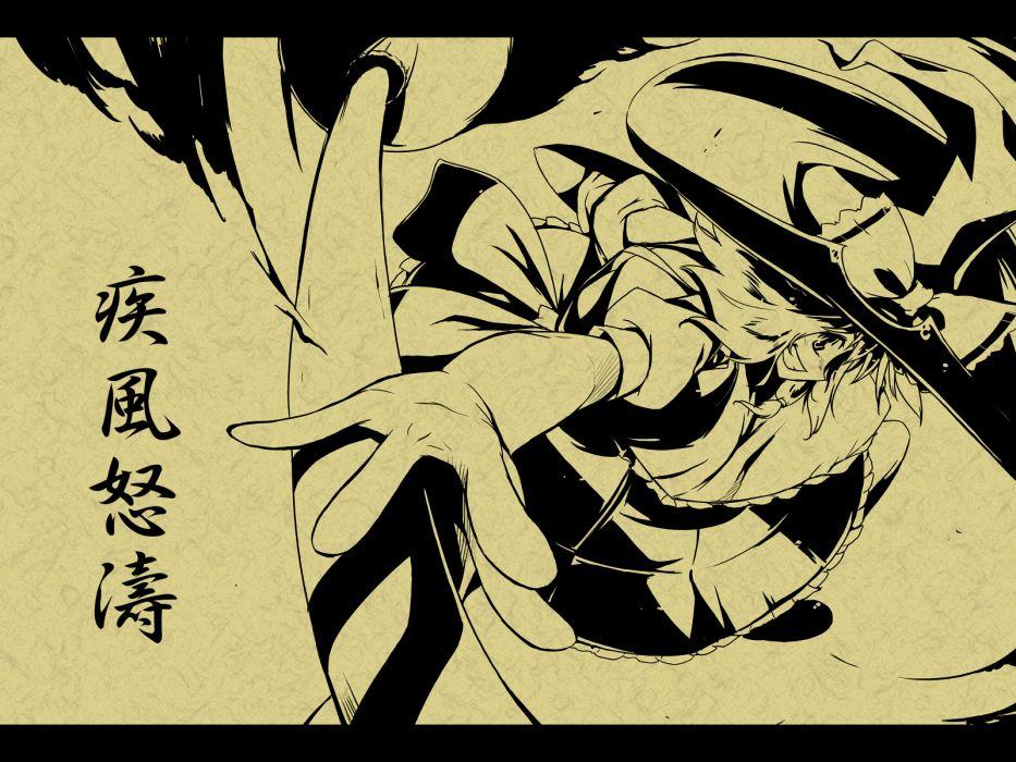 Touhou Kirisame Marisa witches games wallpaper