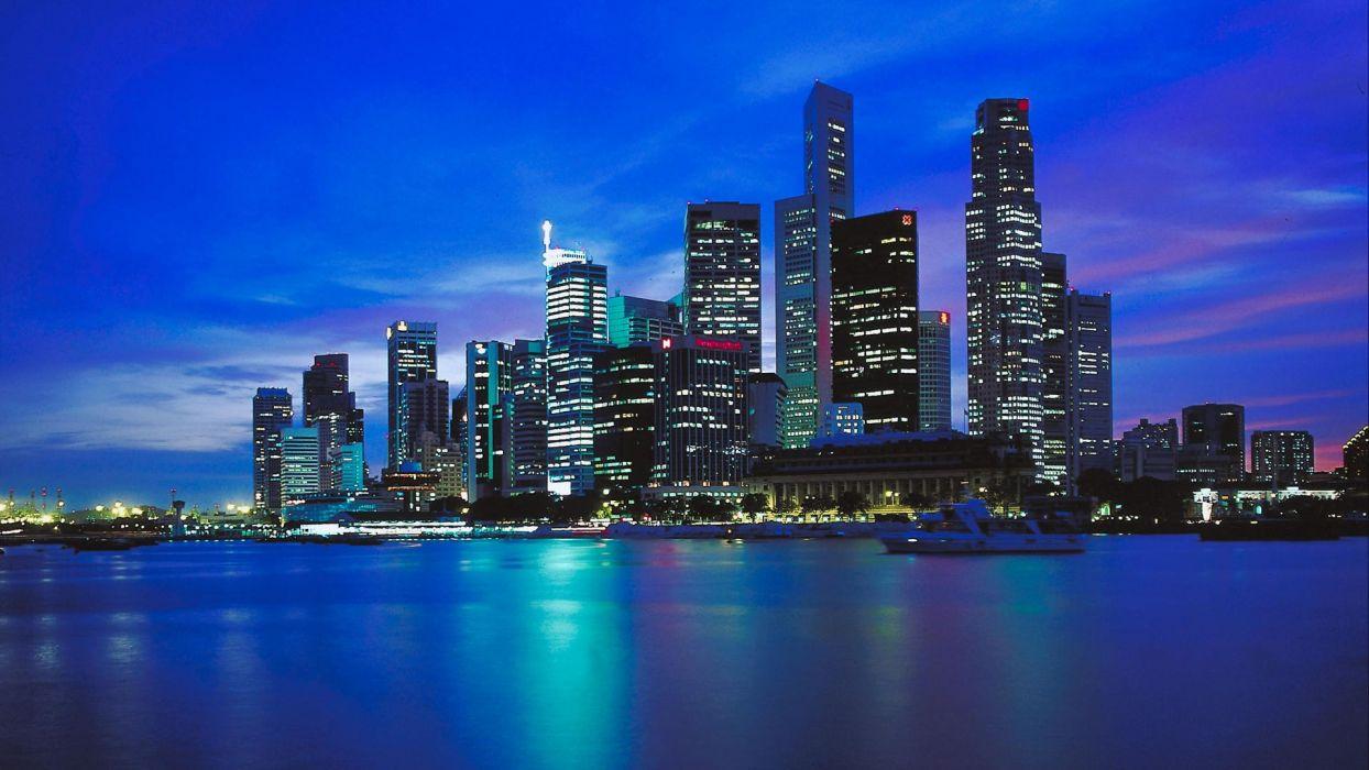 skylines Singapore wallpaper