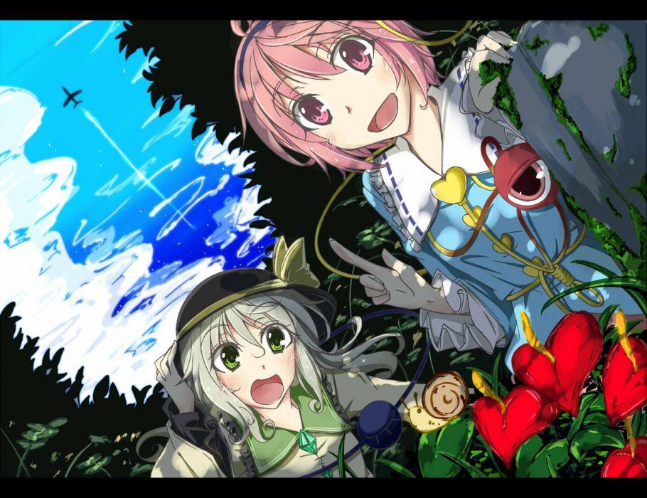 video games Touhou Komeiji Koishi Komeiji Satori wallpaper