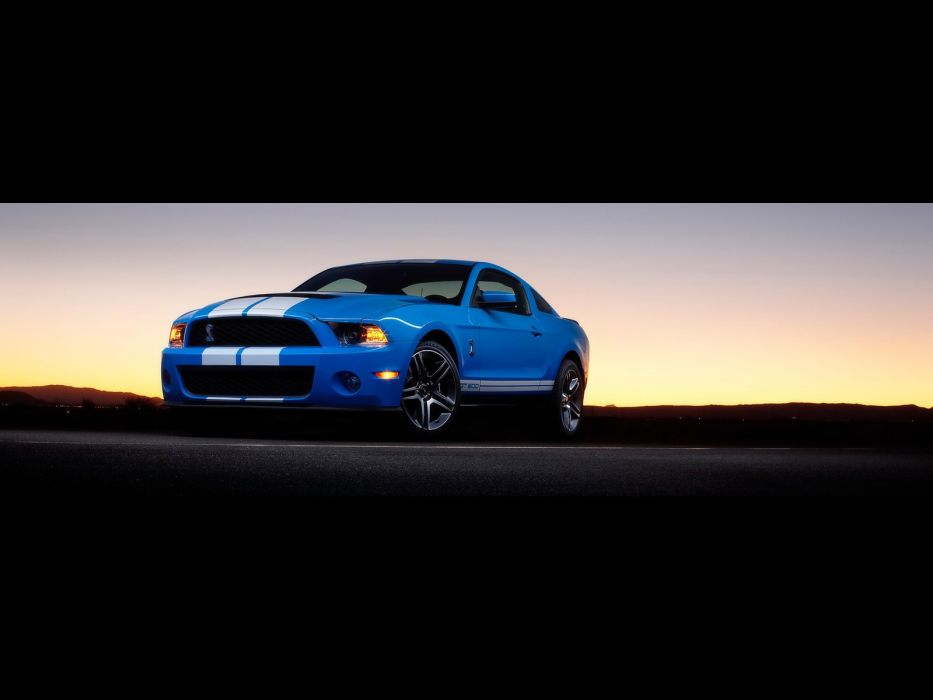 blue cars muscle cars Ford Shelby Ford Mustang Shelby GT500 wallpaper