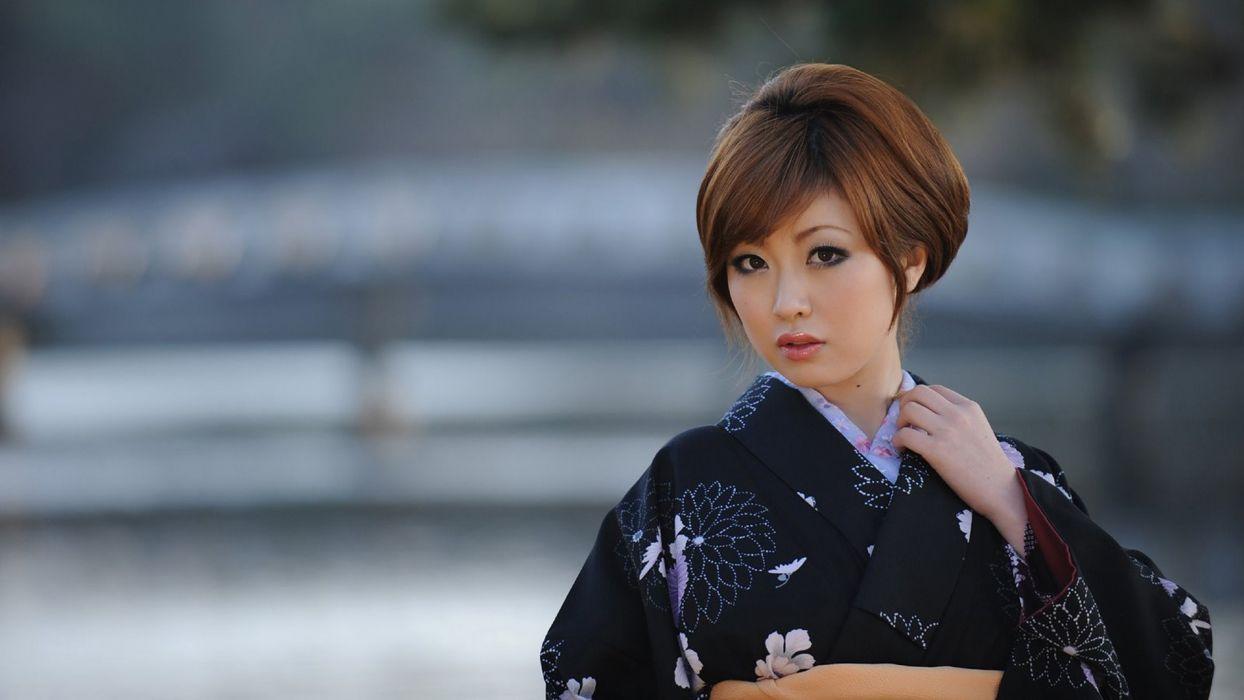 women Asians models wallpaper