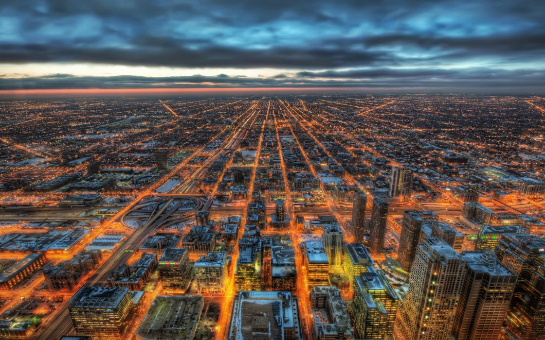 Wonderland city skyline wallpaper