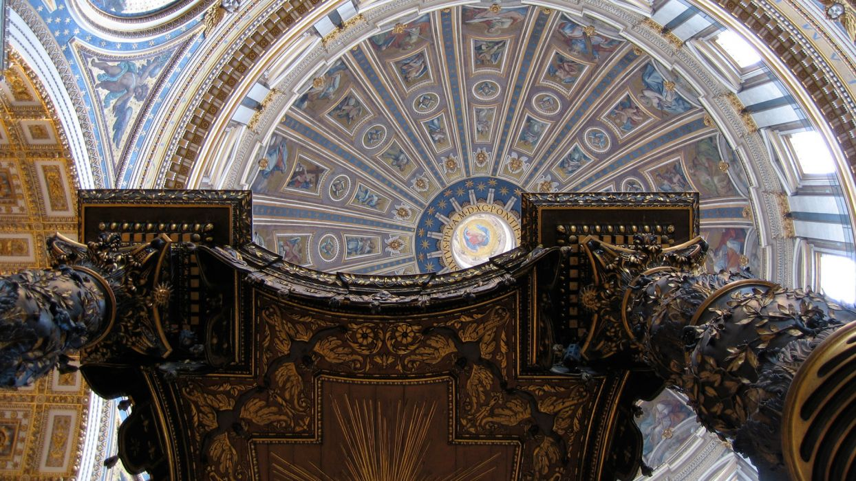 architecture buildings renaissance Rome churches Italy dome st peter's basilica ceiling wallpaper