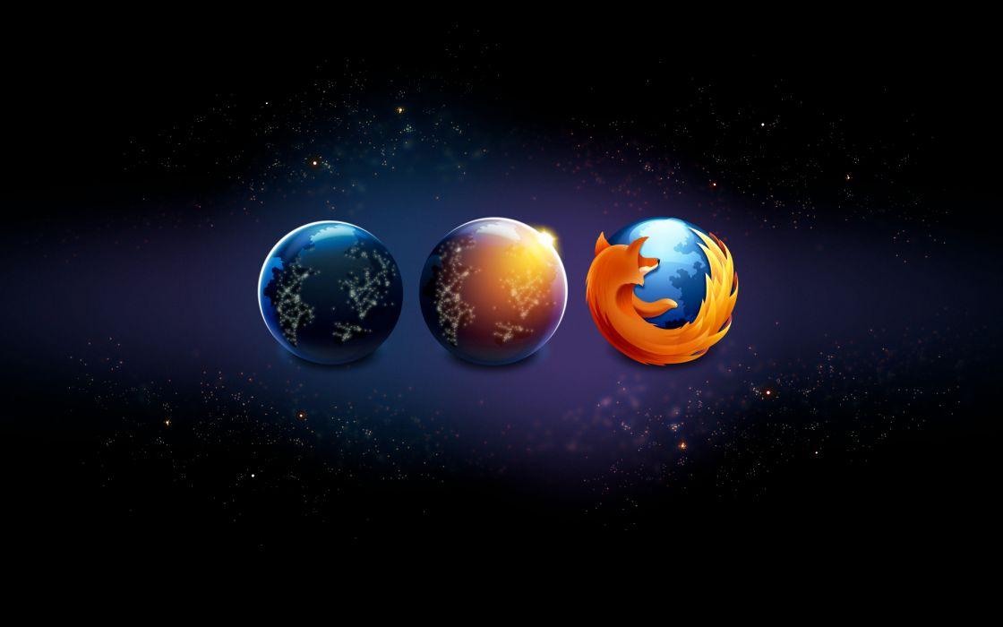 night aurora borealis Firefox wallpaper