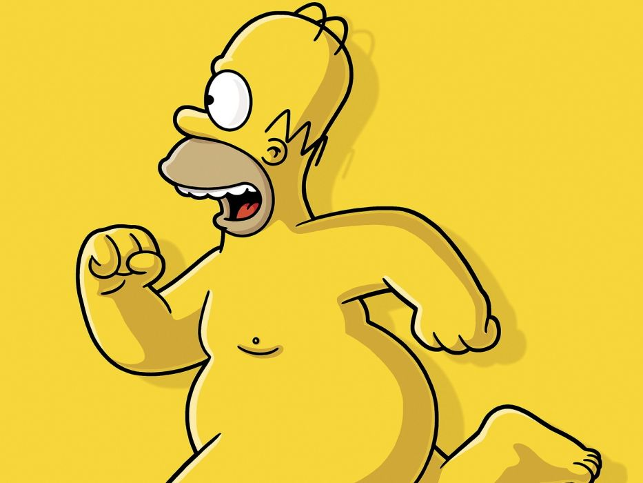 Homer Simpson The Simpsons nude wallpaper