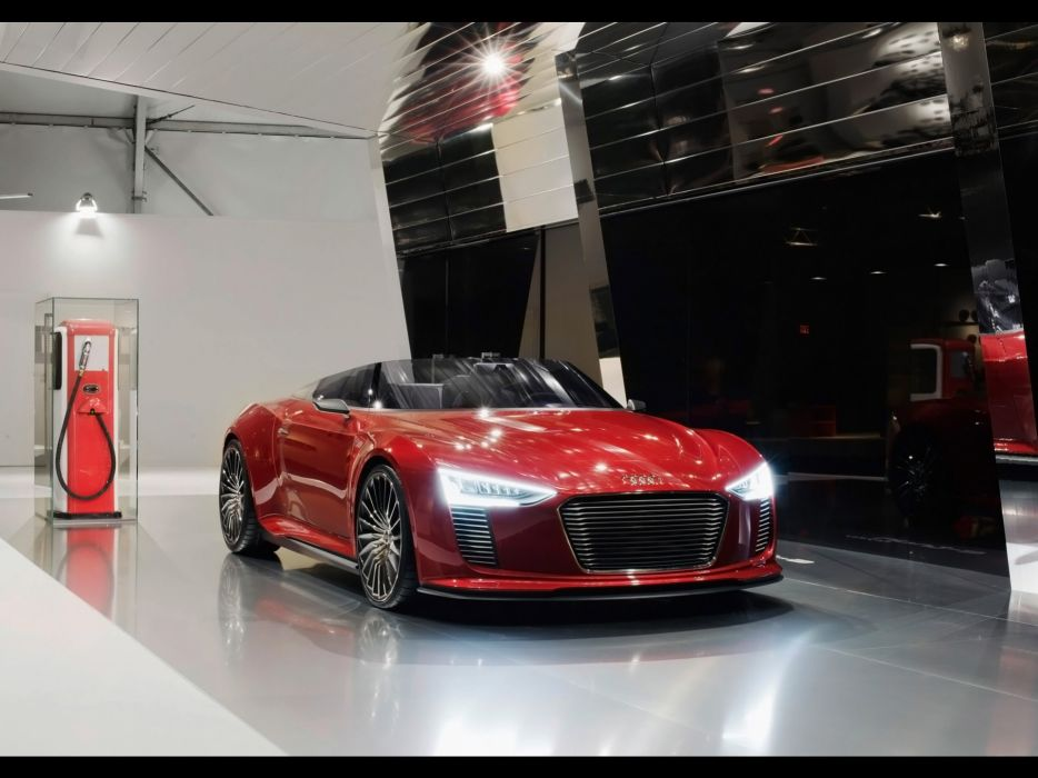 red station cars Audi Tron spyder charging Den wallpaper