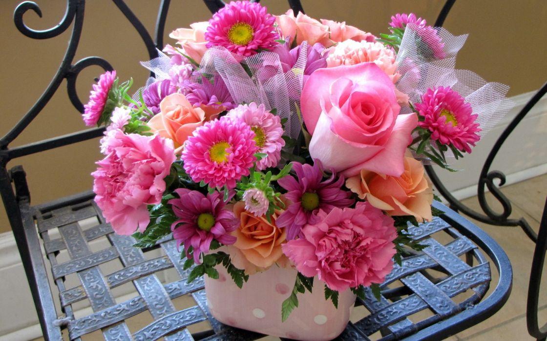 flowers bucket wallpaper