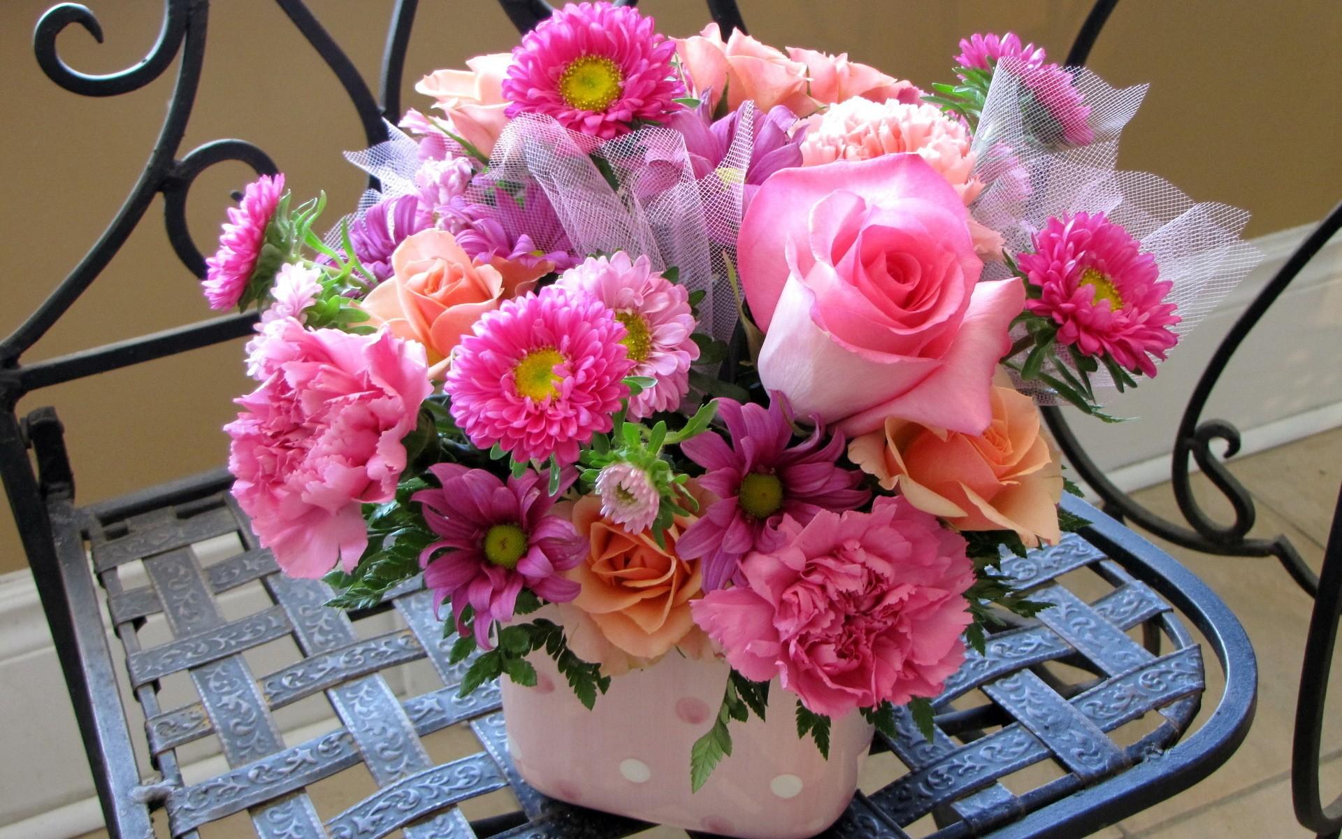 Flowers bucket wallpaper   1920x1200   218367   WallpaperUP