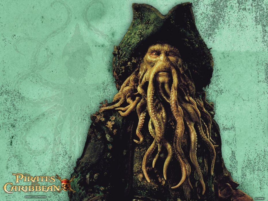 movies tentacles Pirates of the Caribbean Bill Nighy Davy Jones wallpaper
