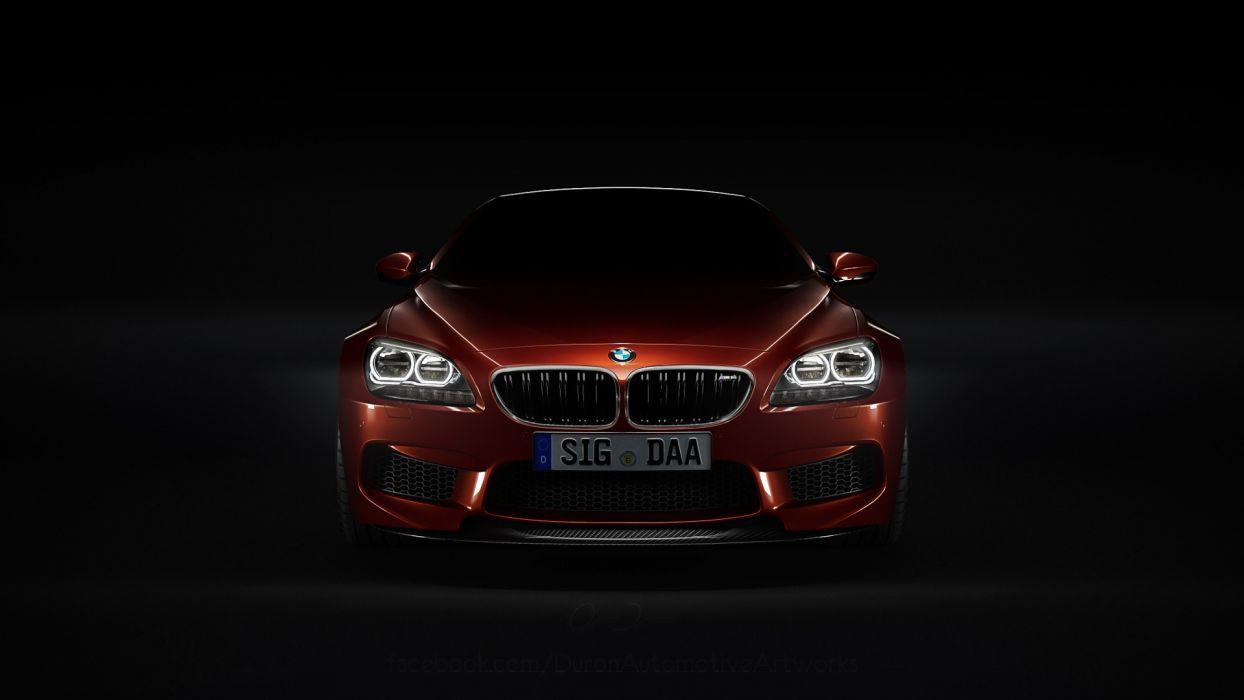 DeviantART vehicles BMW M6 black background headlights ...