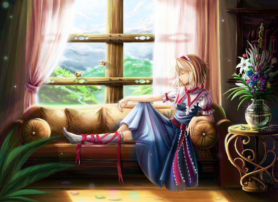 Touhou anime girls wallpaper