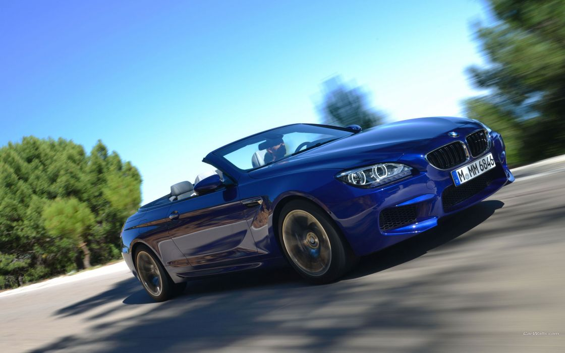 cars roads convertible BMW M6 blue cars wallpaper