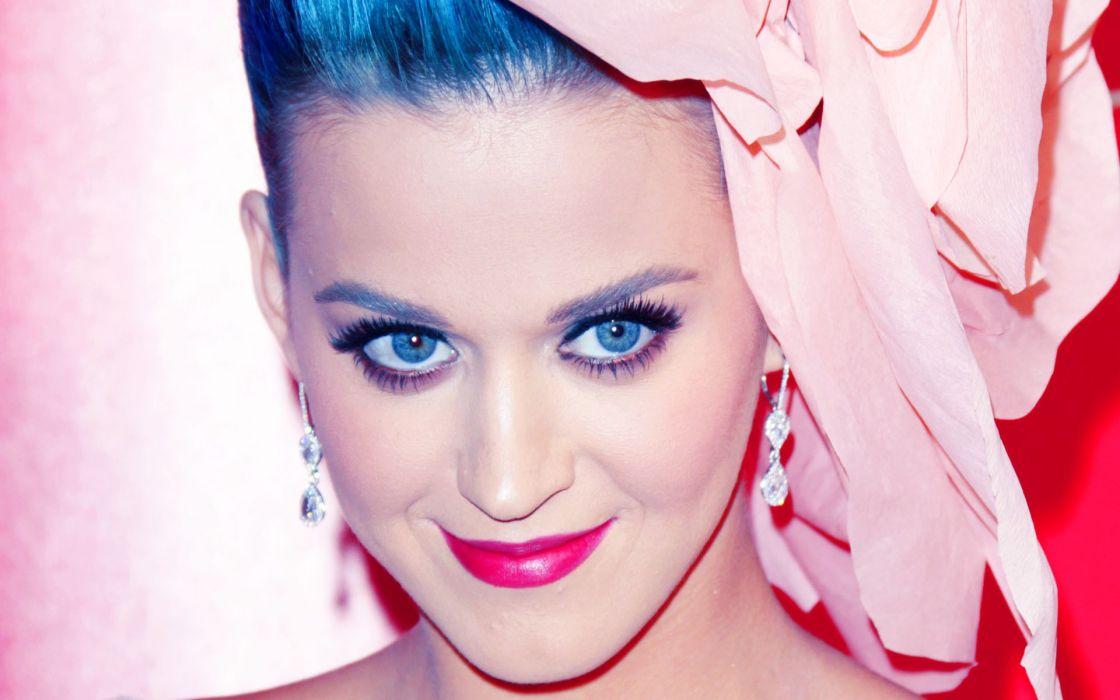 women music Katy Perry blue hair singers wallpaper