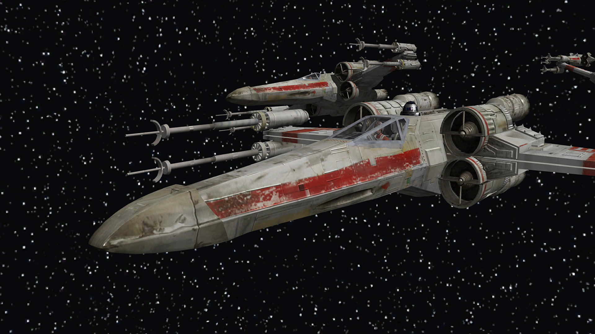 Star Wars Outer Space Stars X-Wing Wallpaper