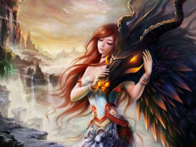 fantasy dragons CGI wallpaper