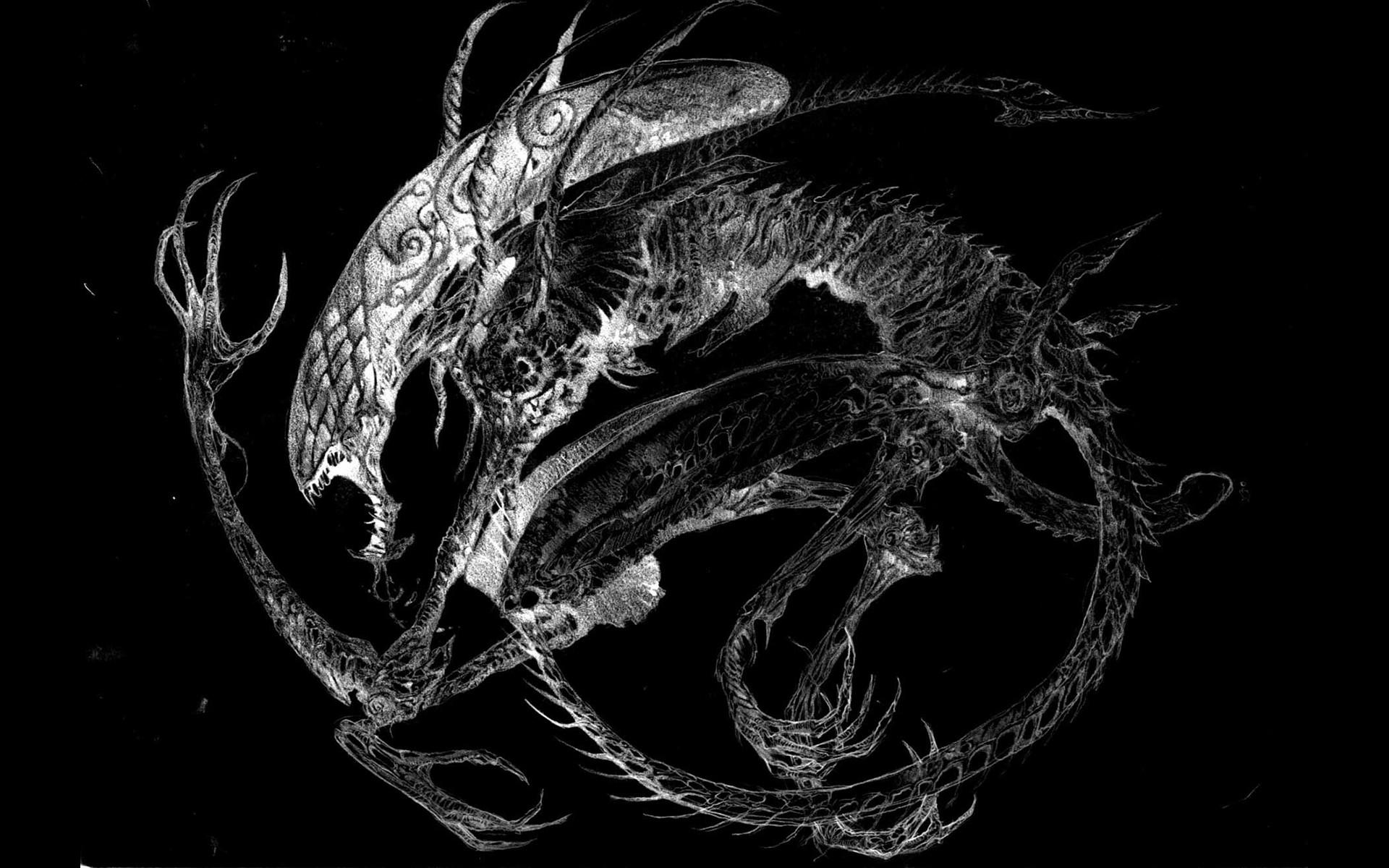 movies xenomorph science fiction alien fan art black