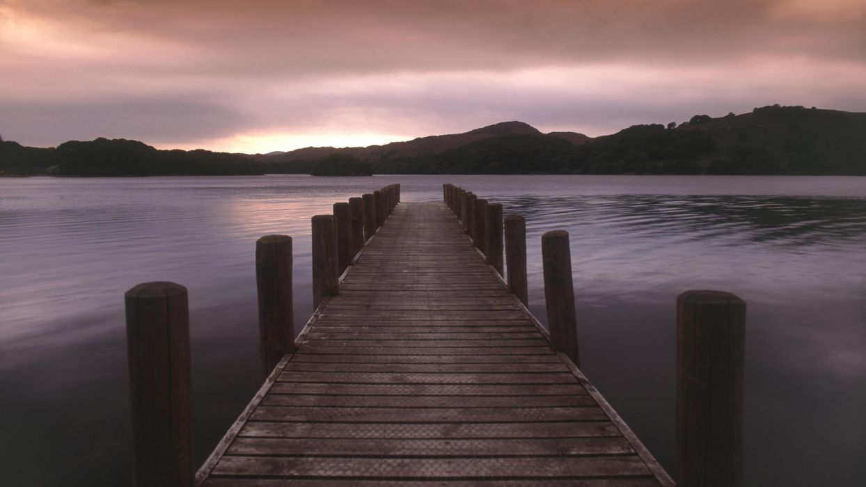 landscapes piers lakes wallpaper