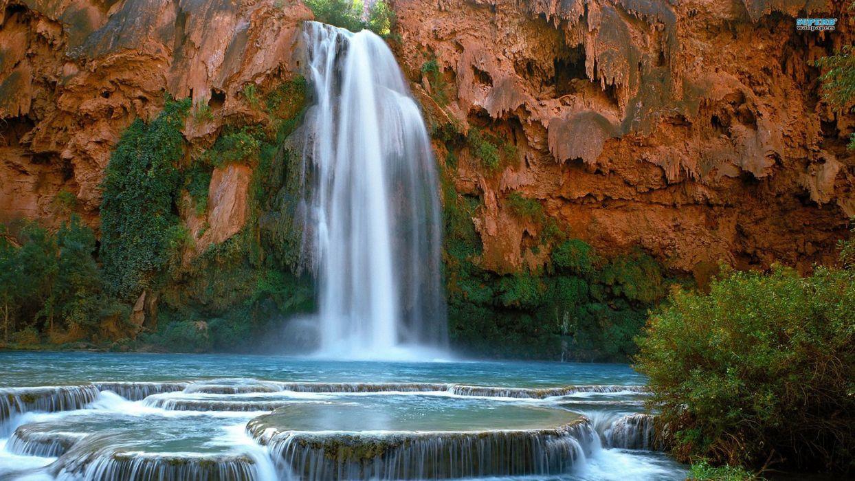 water nature falls wallpaper