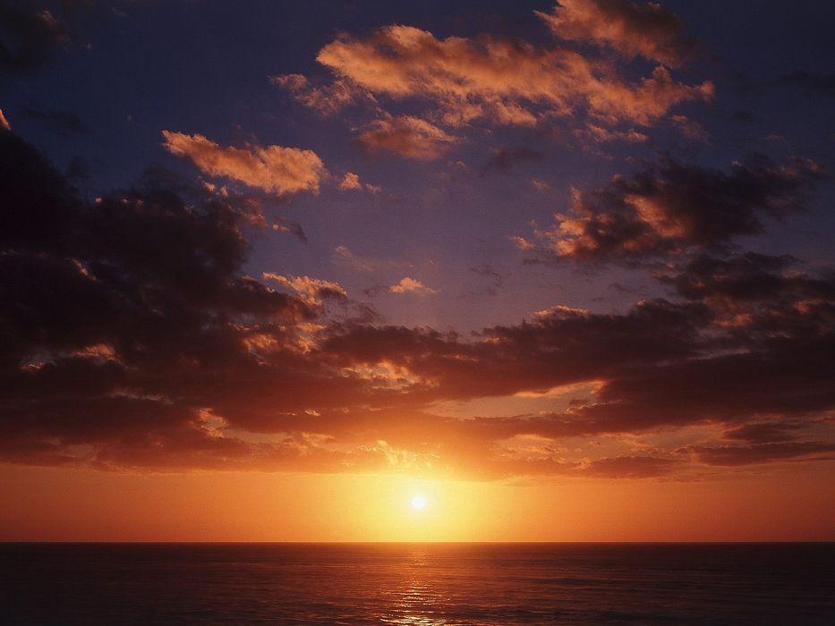 sunset landscapes nature New Zealand wallpaper