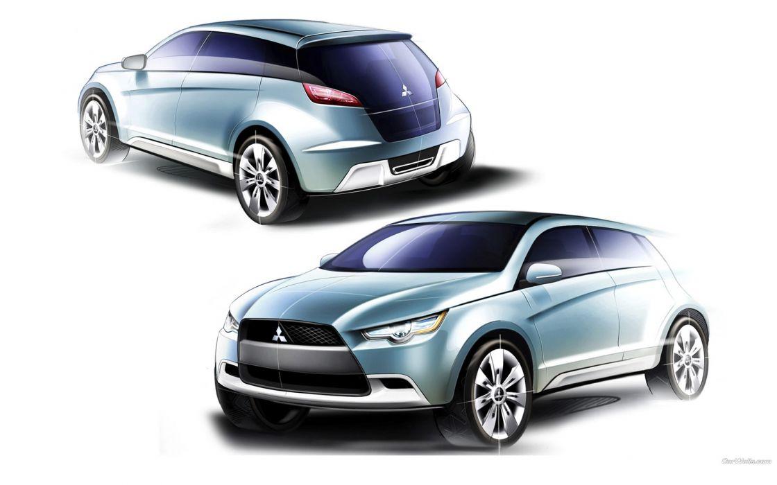 cars Mitsubishi sketches concept art vehicles wallpaper