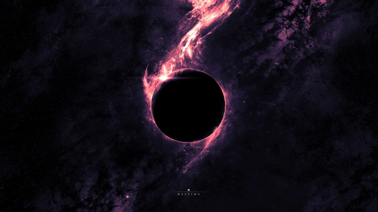 outer space planets black hole wallpaper