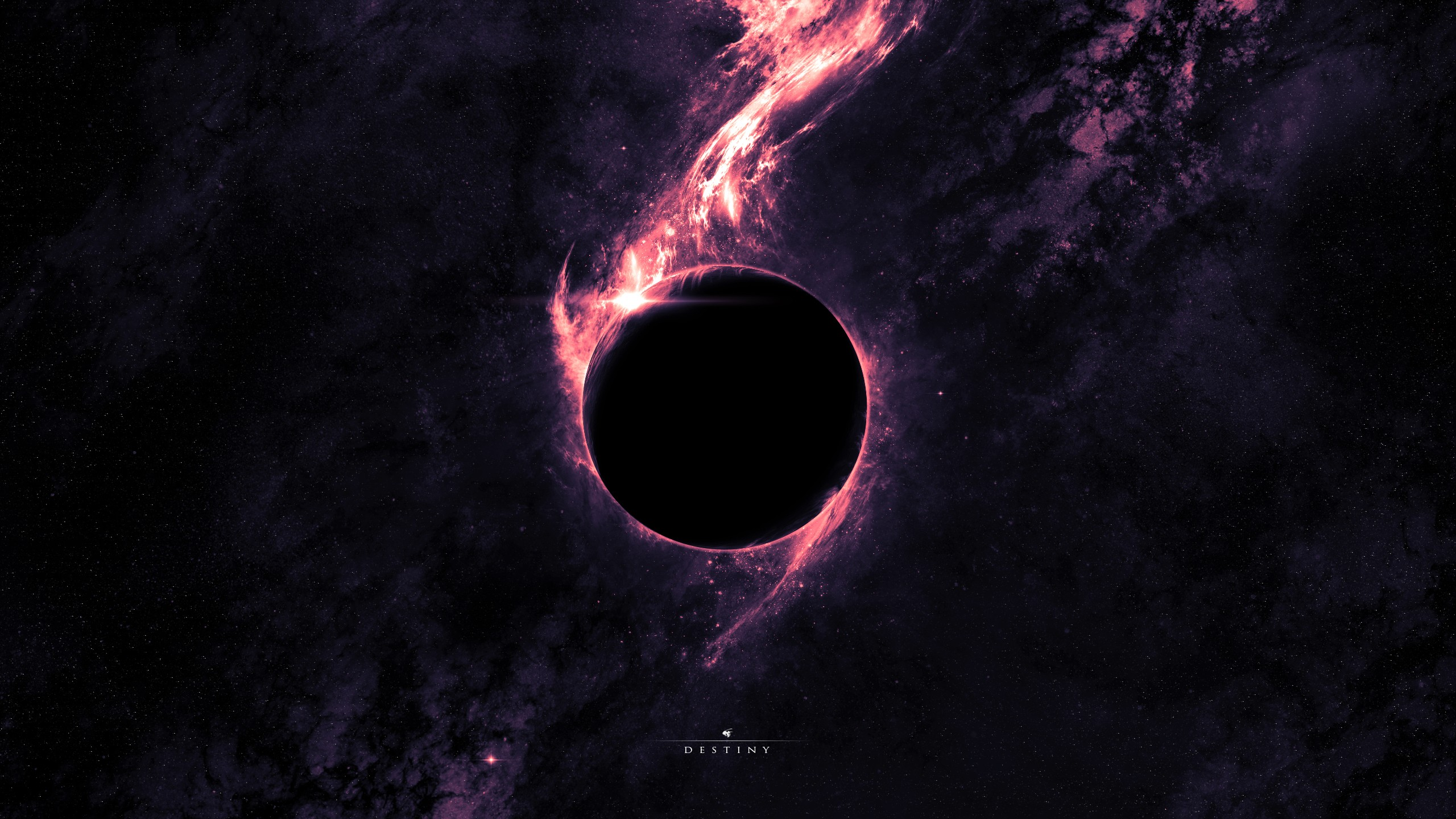Outer space planets black hole wallpaper | 2560x1440 ...