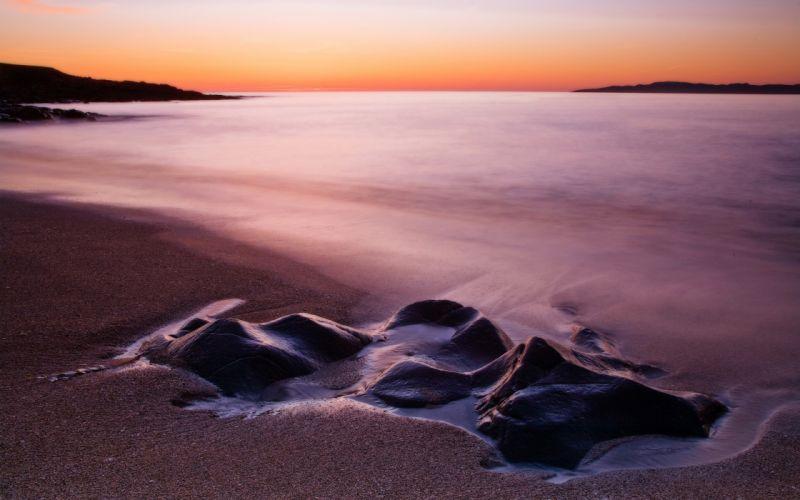 landscapes sand dawn beaches wallpaper