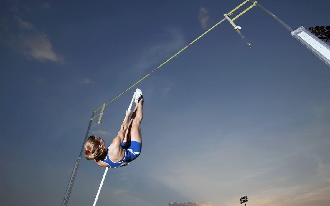 women sports jumping wallpaper