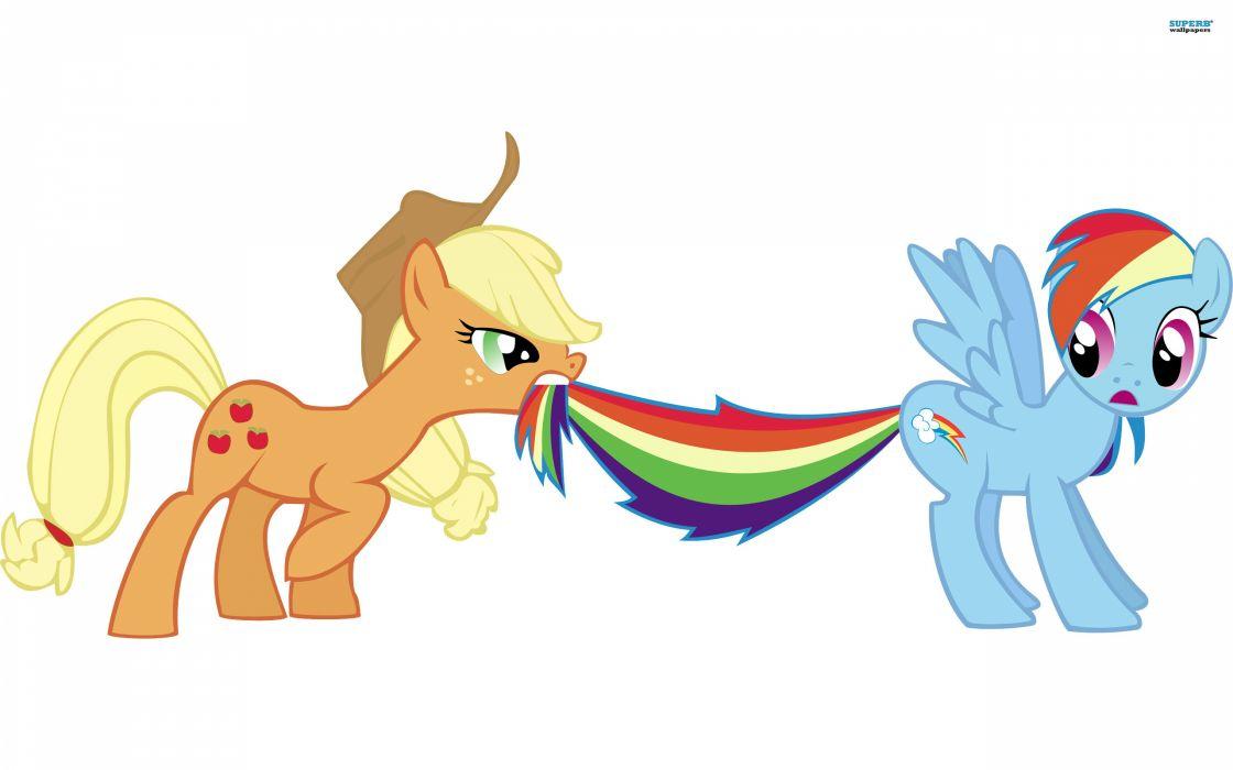 My Little Pony Rainbow Dash Applejack wallpaper