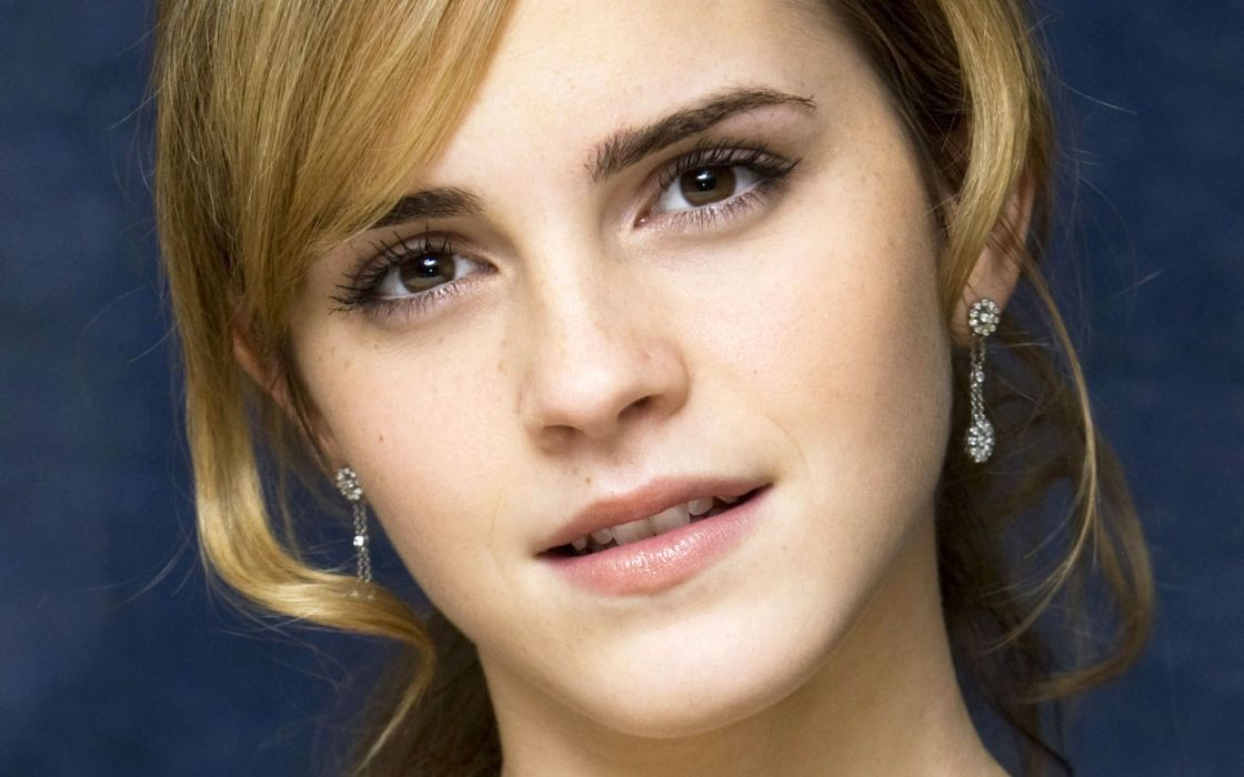 blondes women Emma Watson actress faces wallpaper