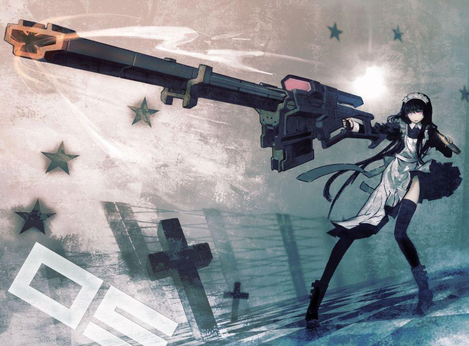 Black Rock Shooter Maid Gunner wallpaper