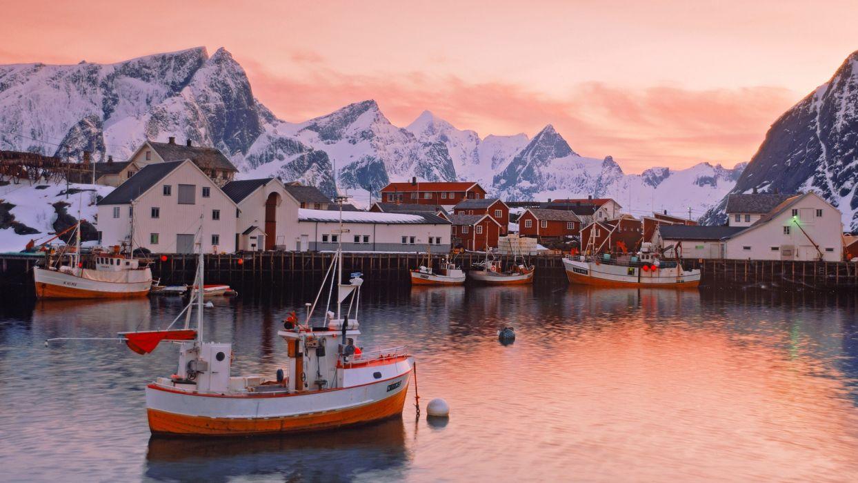 Norway Islands Villages Wallpaper 1920x1080 218844