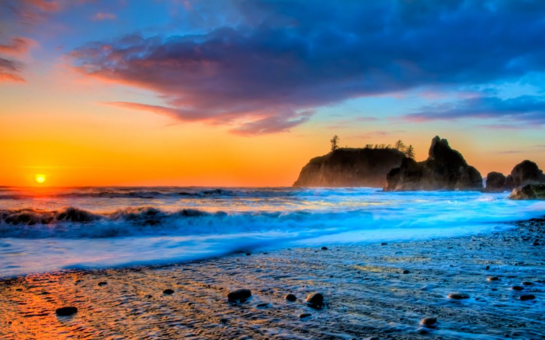 HDR photography beaches wallpaper