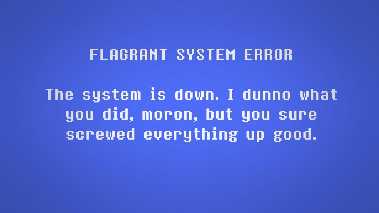 Blue Screen of Death Blue Error computer sadic wallpaper