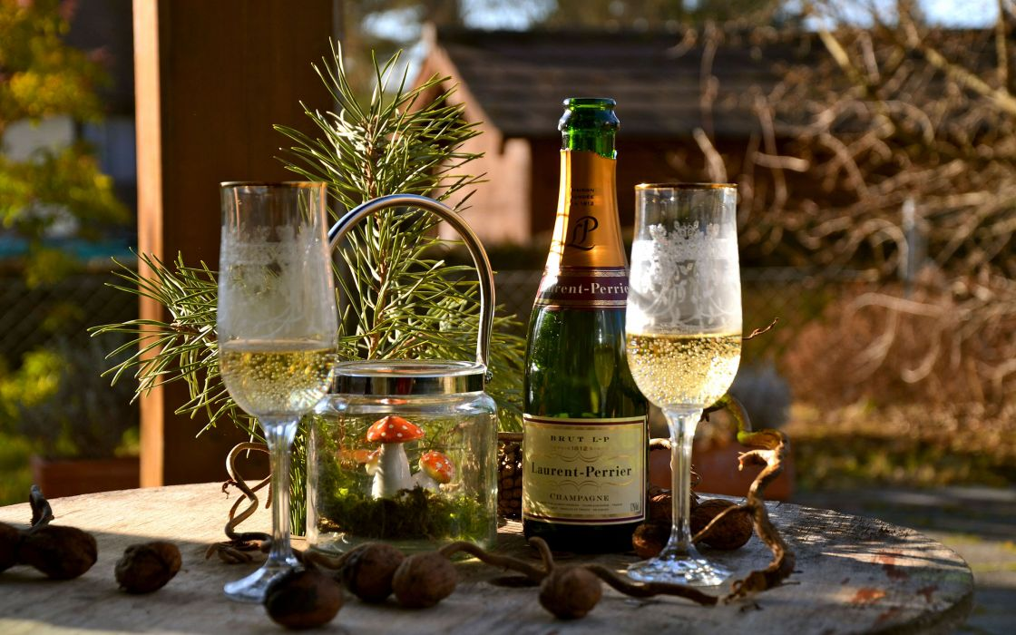 Champagne Glass Bottle Alcohol wallpaper