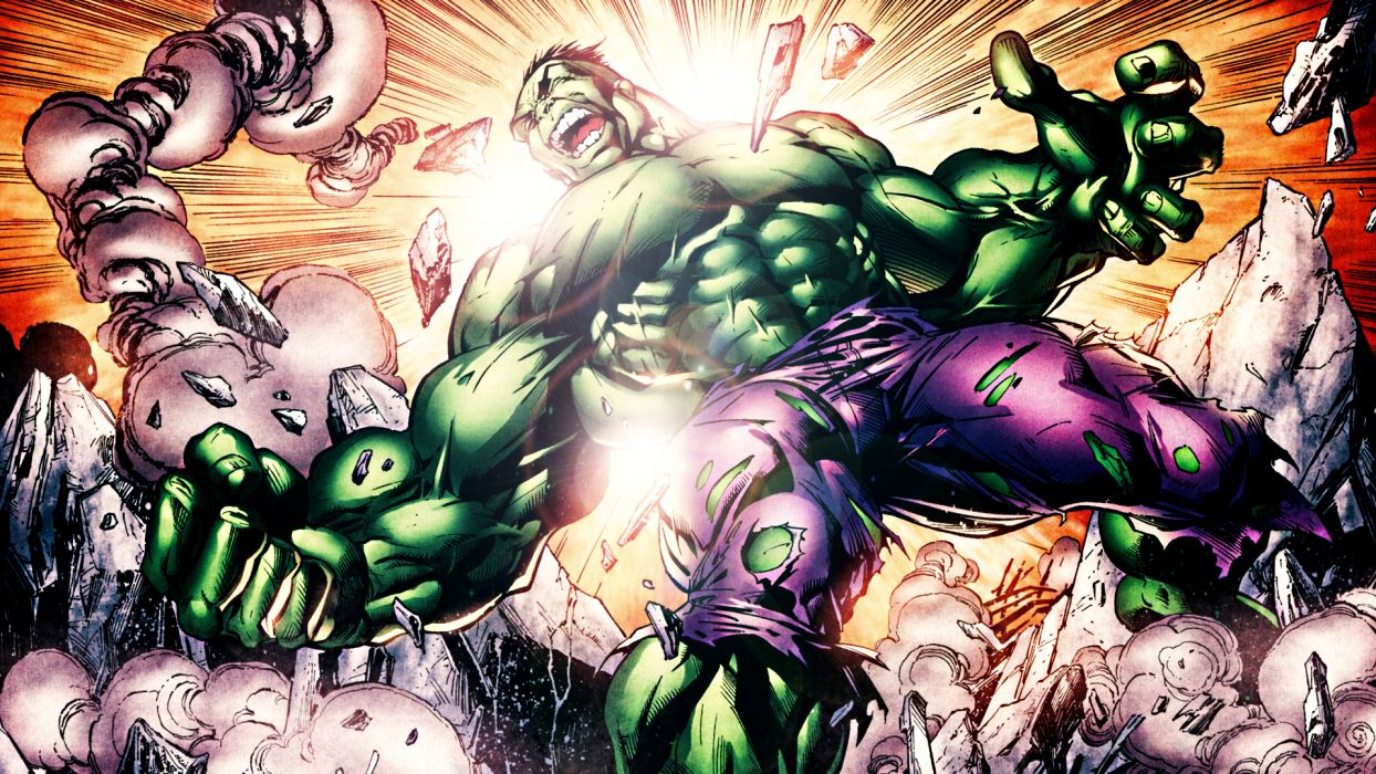 Hulk The Hulk Marvel Light wallpaper