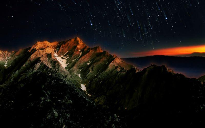 Mountains Stars wallpaper
