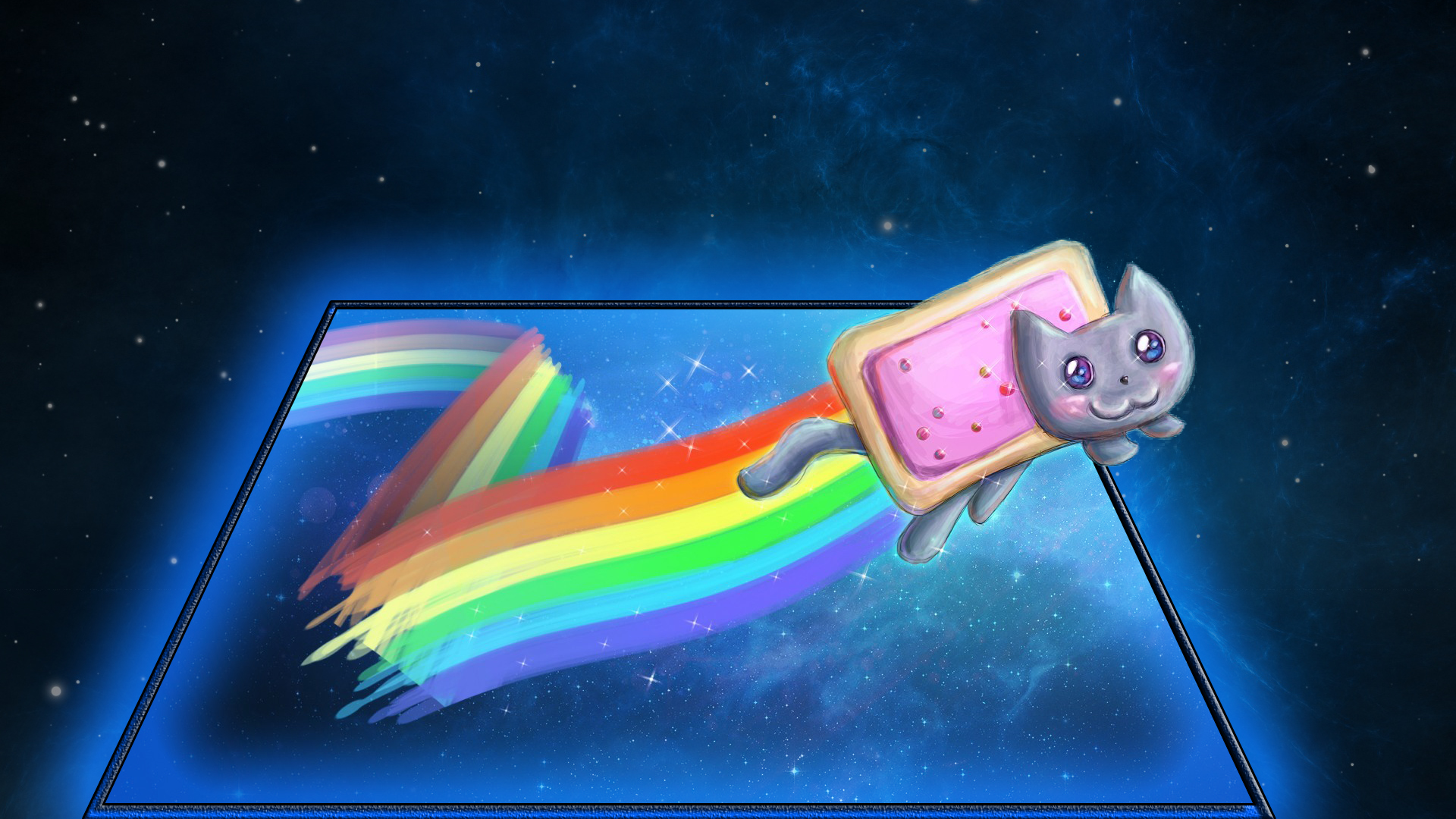 rainbow cat wallpapers - photo #2