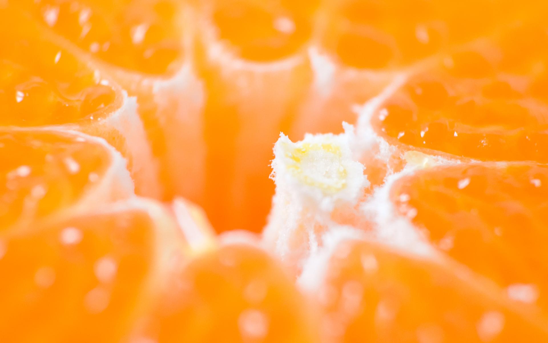Orange Bubbles wallpaper
