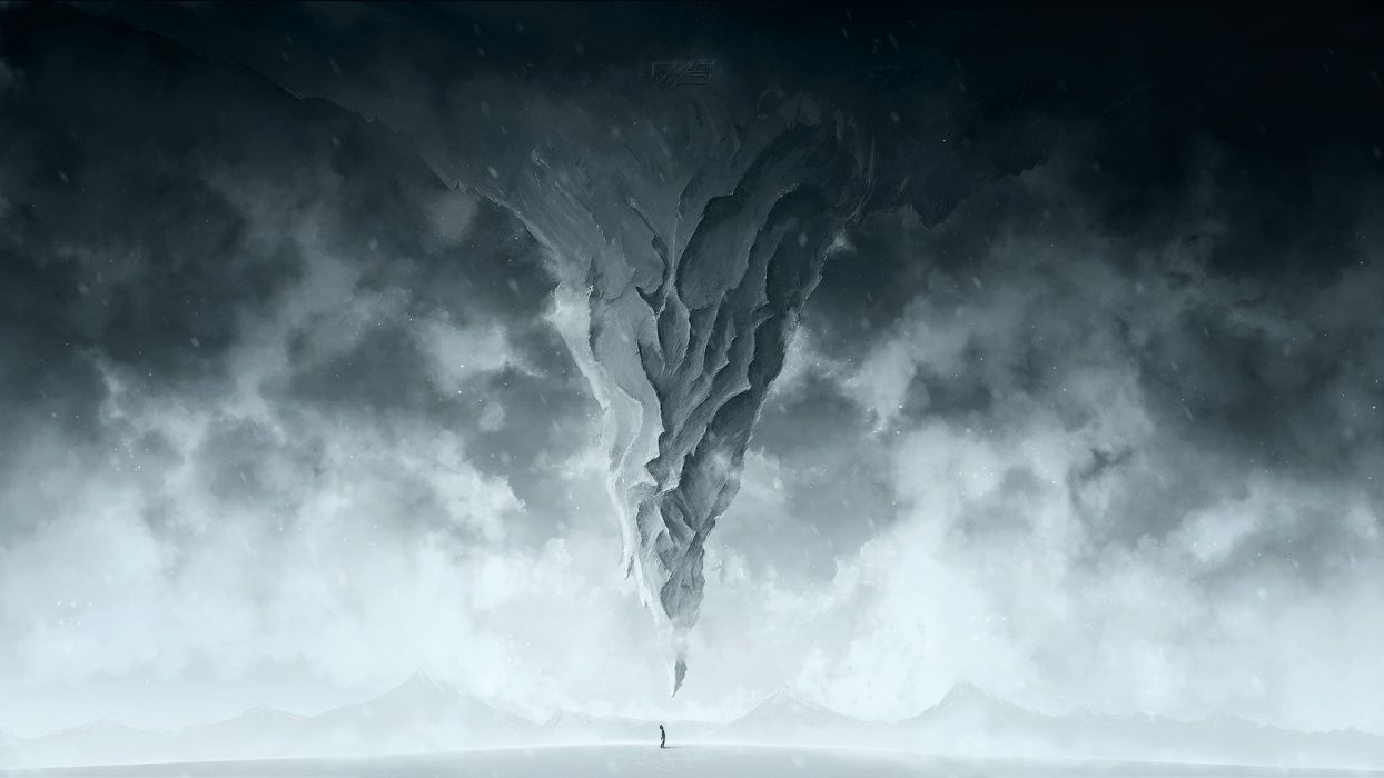 Person Abstract BW Mountain wallpaper