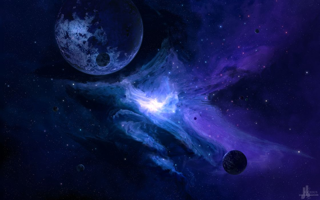 Planet Purple Stars wallpaper