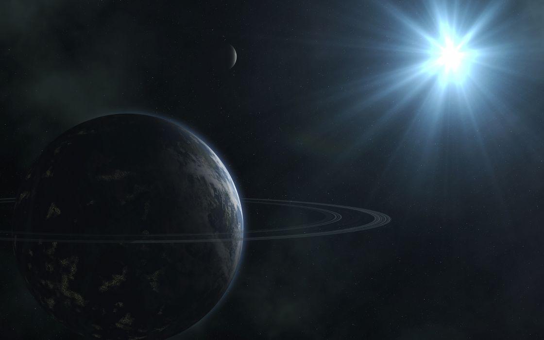 Planets Stars Starlight wallpaper