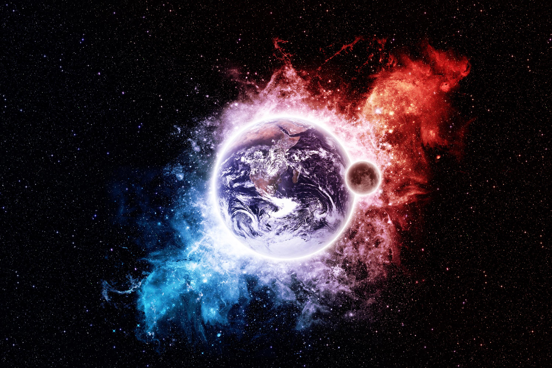 Planet Stars Moon Earth Wallpaper 3000x2000 218989